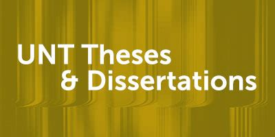 Theses dissertations digital library